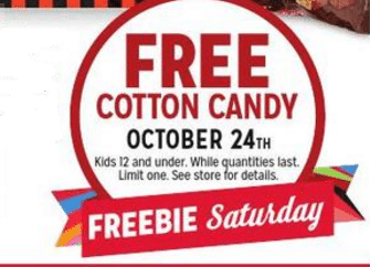 Free Cotton Candy for Kids at Kmart on 10/24