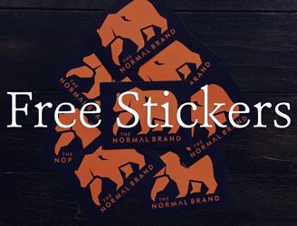 Free The Normal Brand Stickers