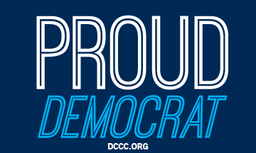 "Free ""Proud Democrat"" Sticker"