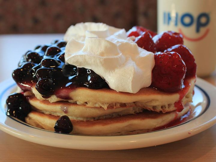 Free Red, White & Blue Pancakes at IHOP on 11/11