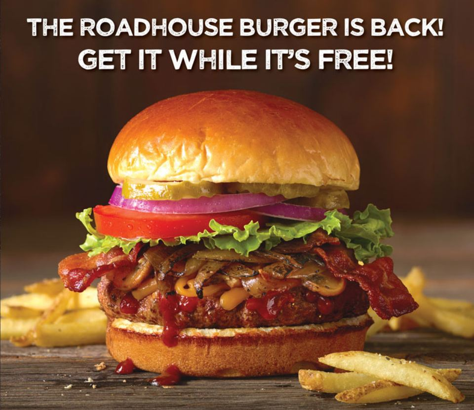Free Burger and Fries at Logan's Roadhouse