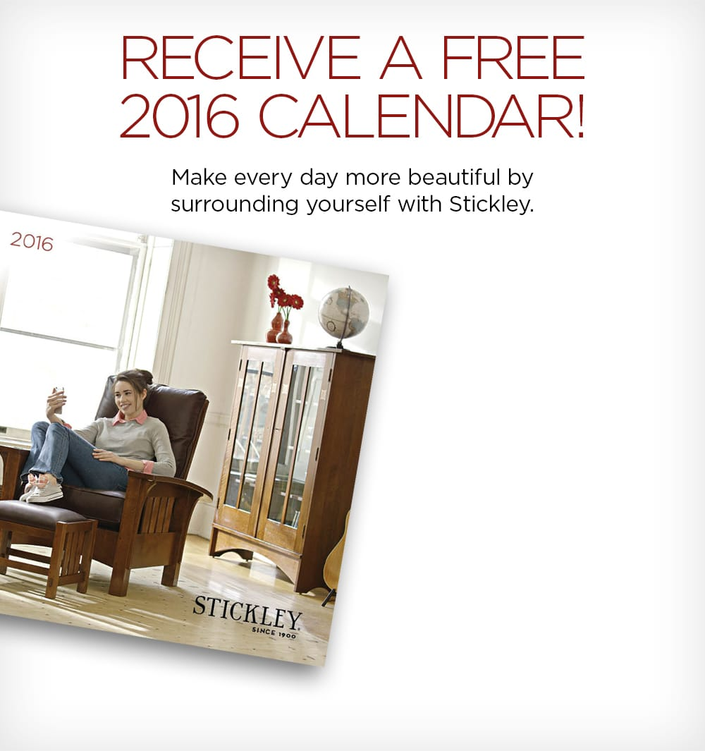 FREE 2016 Calendar From Stickley