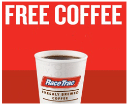 Free Small Coffee at RaceTrac