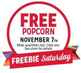 Free Popcorn at Kmart on 11/7