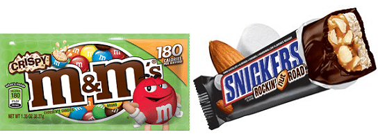 Free M&M's Crispy Bag or Snickers Rockin' Nut Road Bar at Kroger Today