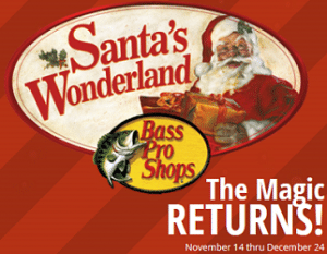 Free Photo with Santa and Wonderland Events at Bass Pro Shops
