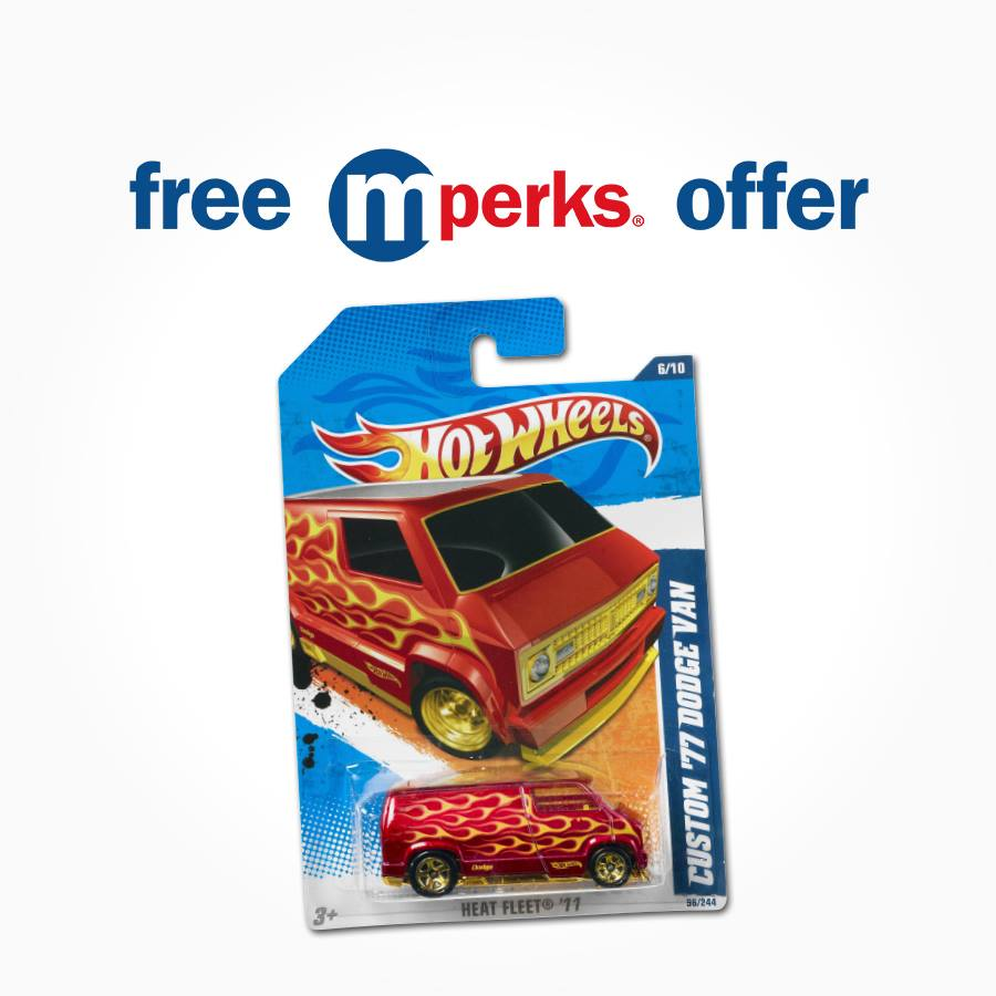 Free Hot Wheels Car At mPerks
