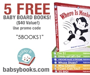 "DEAL: 5 ""Kinda Free"" Babsy Board Books Offer (SHIPPING COST REQUIRED)"