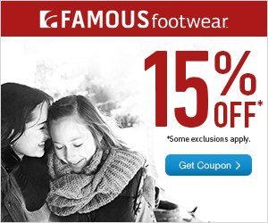 FREE Printable Coupon For 15% Off Entire Purchase At Famous Footwear / Famous Footwear Outlet Stores / Famous.com