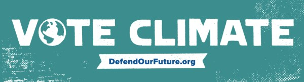 FREE Vote Climate Pledge Bumper Sticker From Defend Our Future