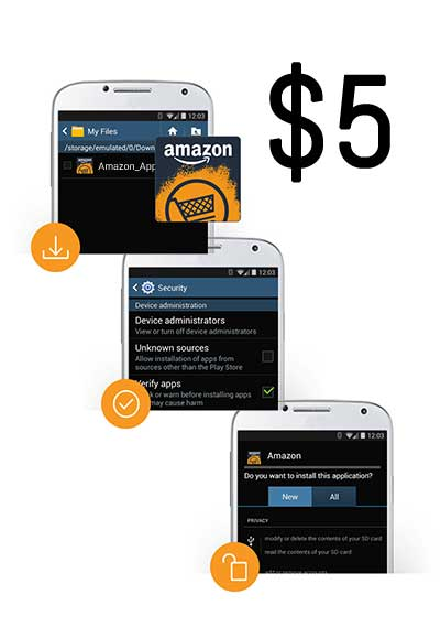 FREE $5 Amazon Credit for Android Users Who Install The Amazon Underground App