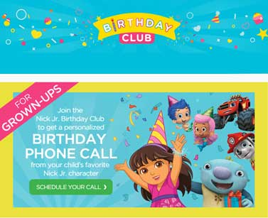 FREE Personalized Birthday Phone Call From Your Kid's Favorite Nick Jr. Character