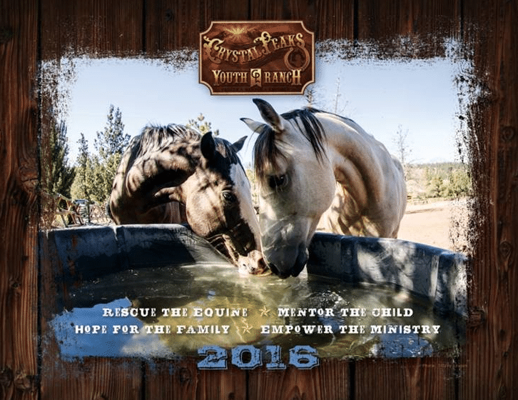 "FREE 2016 Crystal Peaks Youth Ranch Calendar (Donation NOT Required, Making It ""FREE"")"