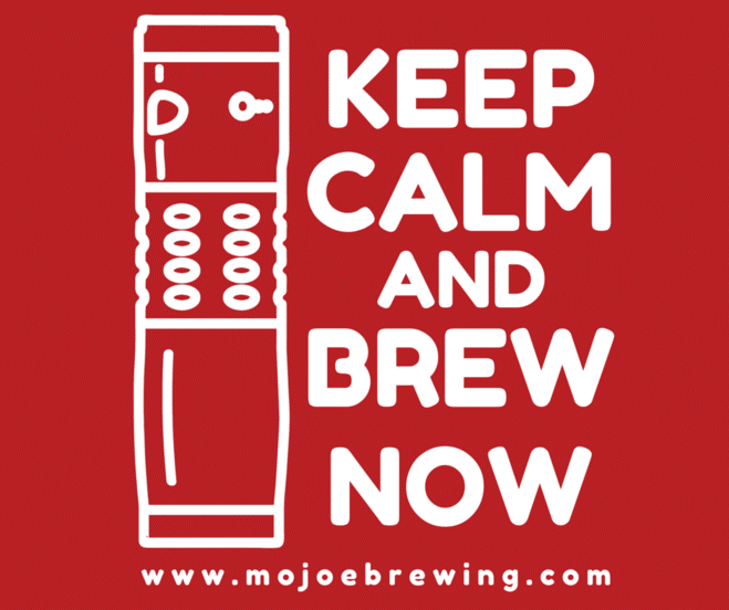 "FREE Mojoe Brewing ""Keep Calm And Brew Now"" Sticker"