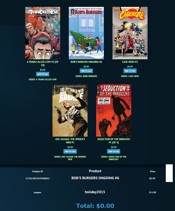 FREE $5 Credit For Dynamite Digital Comics