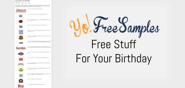 YoFreeSamples Free Stuff For Your Birthday Offer Collection Preview