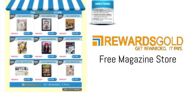 RewardsGold Free Magazine In Exchange For Surveys Store Preview
