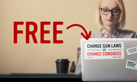 "FREE ""Change Gun Laws or Change Congress"" Sticker"