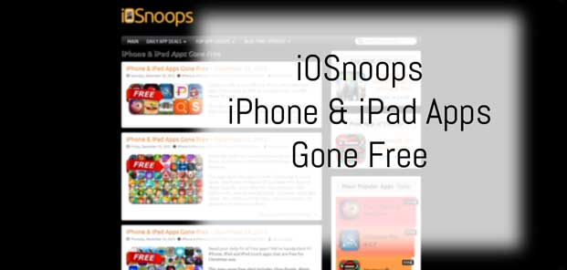 iOSnoops iPhone & iPad Apps Recently Gone Free Section Preview
