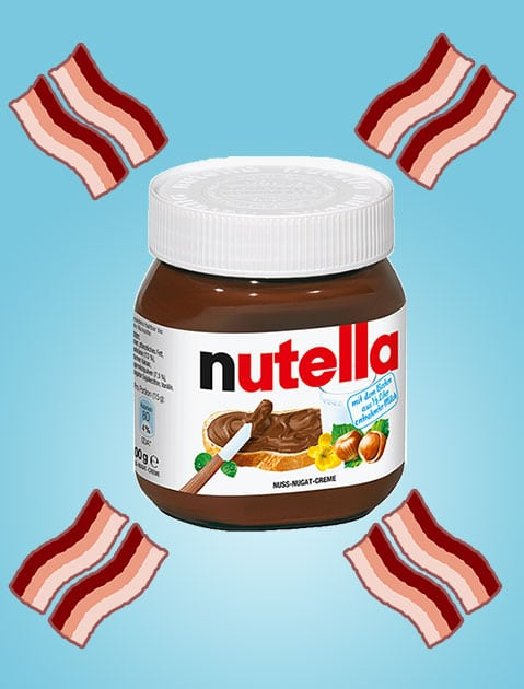 FREE Nutella Bacon Bites (Nutella + Bacon Bits + Chocolate) Sample