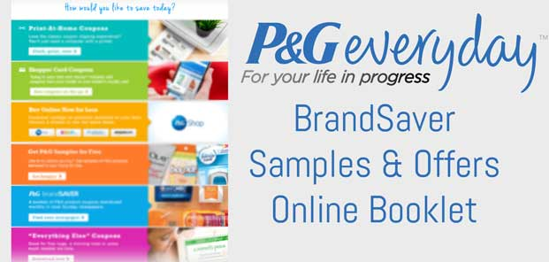 Procter & Gamble Everyday BrandSaver Offers Online Booklet Preview