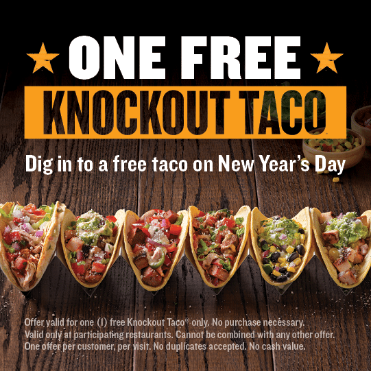 Free Knockout Taco at Qdoba Today
