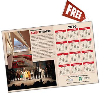 Free 2016 Alley Theatre Calendar