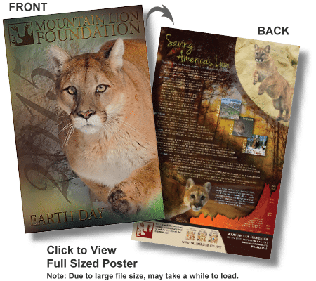 Free 2015 Mountain Lion Earth Day Poster