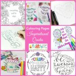 FREE Adult Coloring Pages For Adults & Kids Including Inspirational Quotes, Minions & More!