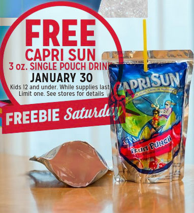 FREE 3 oz Capri Sun Drink At Kmart January 30th 2016 (Kids 12 & Under Only)
