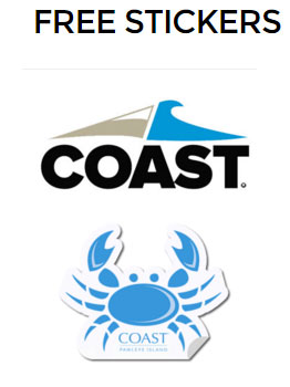 FREE Coast Apparel Stickers (US Only)