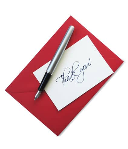 FREE Individually Hand Written Thanks Note