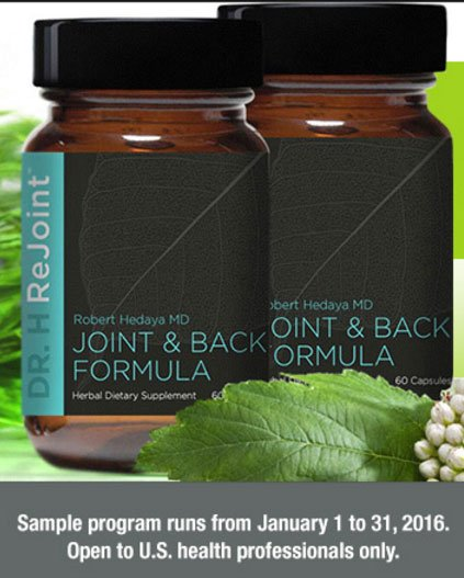 FREE Dr. H ReJoint Herbal Supplement (Health Professionals Only)