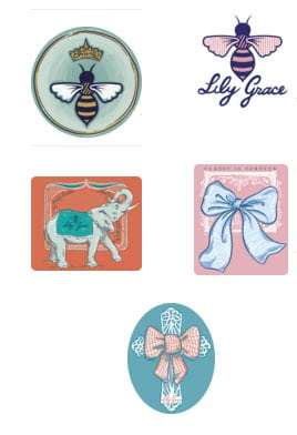 FREE Cute Bee Stickers from Lily Grace (Newsletter Sign Up Required)