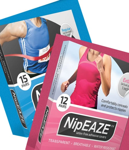 FREE NipEAZE Nipple Chafing & Concealment Nipple Covers Pack (Facebook Required)
