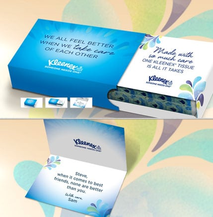 FREE Kleenex Personalized Message Of Care Tissue Pack From Kleenex (Account Creation Required)