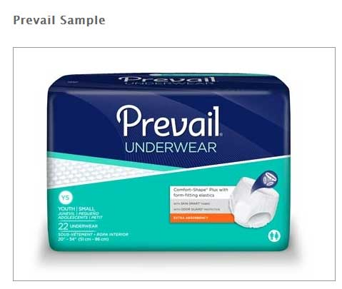 FREE Prevail Protective Underwear Sample From Med Plus Discreet Incontience Supplies