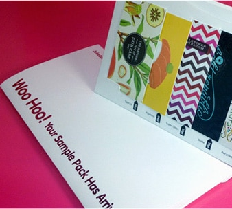 FREE Standard or Recycled Sample Pack from Jukebox Print