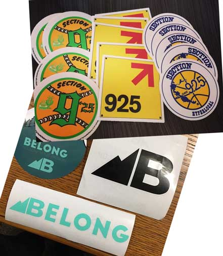 2 FREE Stickers Today: Belong Designs Sticker & Section925 Stickers