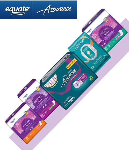 FREE Equate & Assurance For Women PurseReady Sample Pack From Walmart