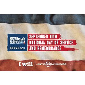 FREE 9/11 Day Of Service Stickers