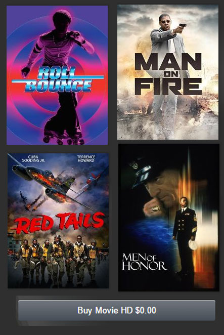 FREE Man On Fire, Men Of Honor, Roll Bounce, Soul Food & Red Tails Movie Downloads From Amazon Instant Video