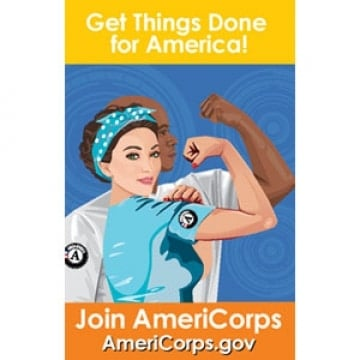 """FREE Americorps """"Get Things Done For America"""" Stickers [Verified Received By Mail]"""