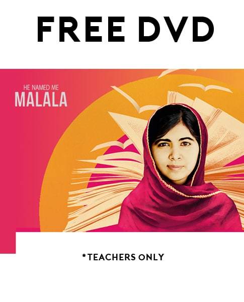"FREE ""He Named Me Malala"" DVD For Teachers Only"