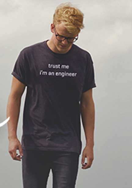 """FREE """"Trust Me I'm An Engineer"""" Shirt From Gates Design Center (Survey & Company Name Required)"""