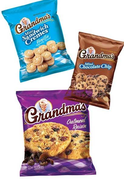 FREE Grandma's Mini Chocolate Chip, Vanilla Mini Sandwich Or Oatmeal Raisin Cookies Single Serve Pack