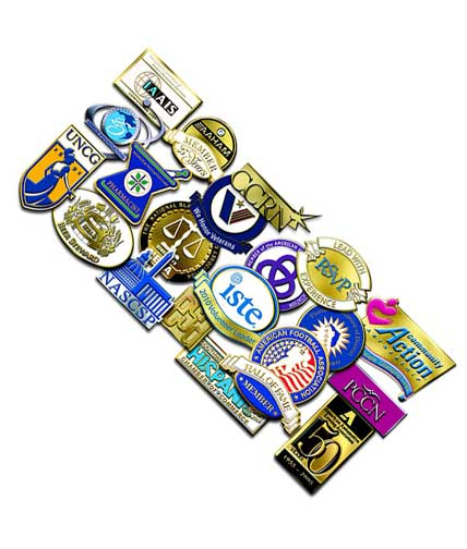 12 FREE Lapel Pin Sample Pack From VolunteerGifts.com (Company Name Required)