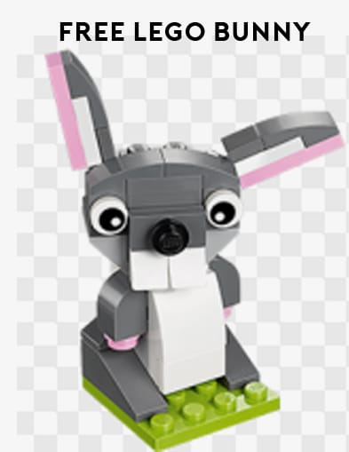 FREE LEGO Bunny Model With Participation In Monthly LEGO Store Mini-Build Event