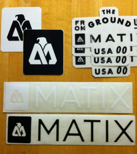 FREE Matix Clothing Stickers (Newsletter Sign Up Required)