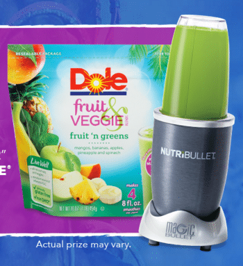 Win A FREE Dole Nutribullet With Fruit & Veggie Blends And More Prizes!